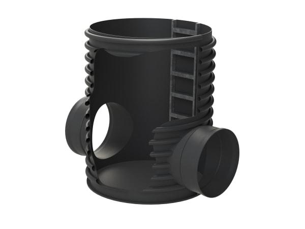 Pozzetti in PE formati da tubi strutturati tipo spiralato