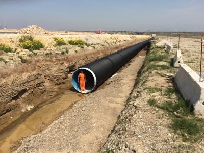 Tubi Spiralati SGK per scarico a mare acque di raffreddamento Taranto 2015