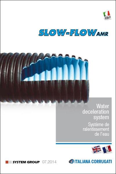 Sistema di rallentamento dell'acqua per condotte di scarico a forte pendenza