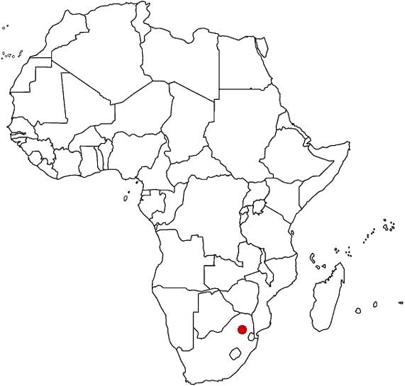 Sudafrica Cartina Muta.Spc Southern Pipeline Contractors