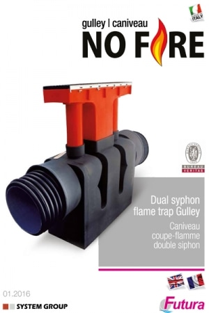 Dual syphon flame trap gulley