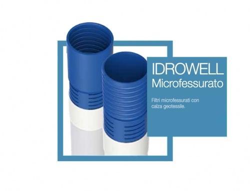 Tubo drenaggio microfessurato filettato PVC System Group PVC
