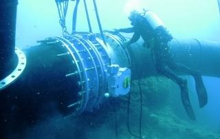 Tubazioni in polietilene per sistemi di condotte subacque