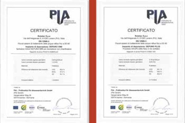 La depurazione certificata delle acque reflue