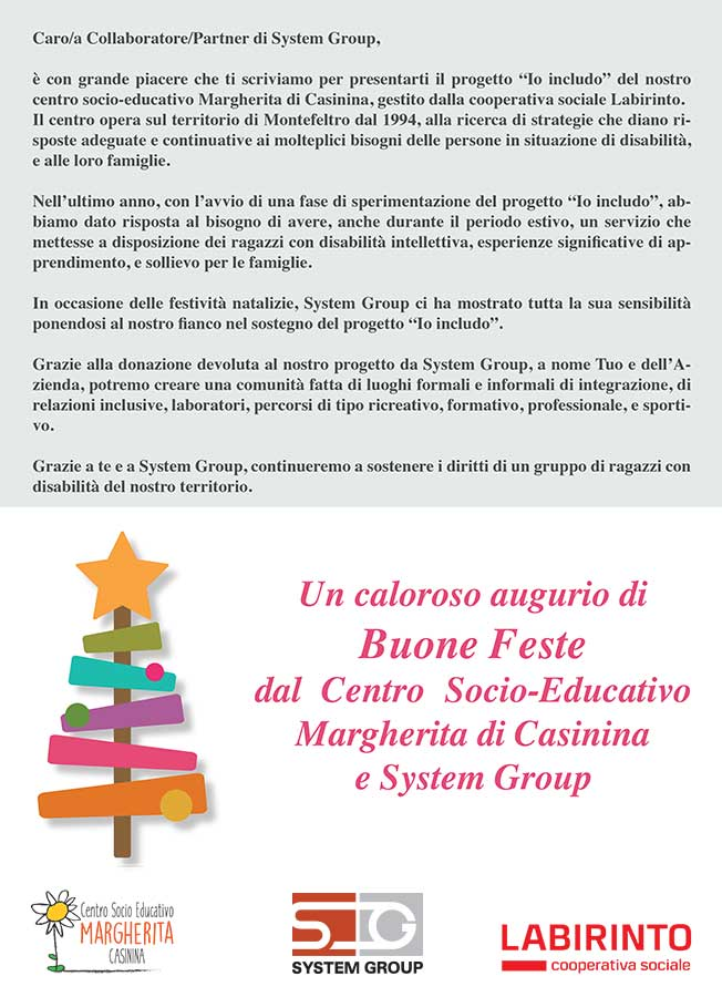 Natale 2017 System Group