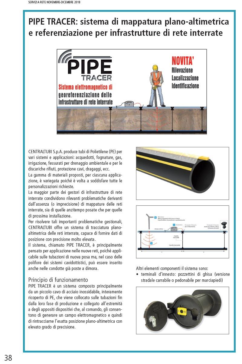 PIPE TRACER Sistema elettromagnetico di georeferenziazione delle infrastrutture di rete interrate