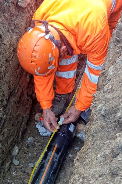 UNARETI ha scelto il PIPE TRACER per localizzare le sue Linee Gas (05)