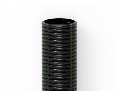 Blackdren Tube Fissuré Noir EN HDPE 100 Pour Le Drainage